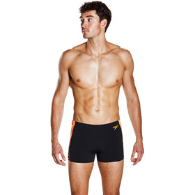 speedo Graphic Splice Aquashorts Men Black/Fluo Orange